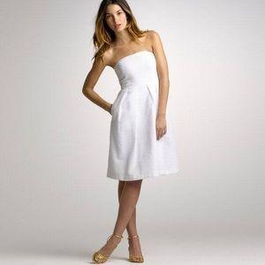 J. Crew White Lorelei Dress
